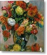 Vase Of Flowers Metal Print by Pierre Auguste Renoir