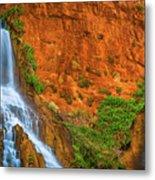 Vaseys Paradise Twin Falls Metal Print
