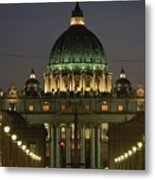 Vatican, Rome, Italy.  Night View Metal Print by Richard Nowitz