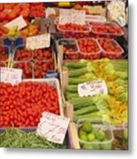 Vegetables At Italian Market Metal Print