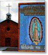 Velarde Church 1817 Metal Print