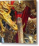 Venetian Animal Masks Metal Print