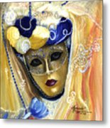 venetian carneval mask V Metal Print
