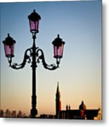 Venetian Sunset Metal Print by Dave Bowman