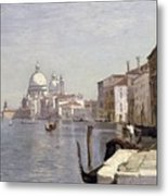 Venice - View Of Campo Della Carita Looking Towards The Dome Of The Salute Metal Print