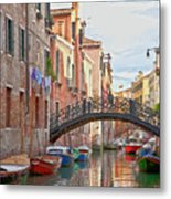 Venice Bridge Crossing 5 Metal Print