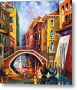 Venice Bridge Metal Print