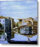 Venice Canal Ride Metal Print