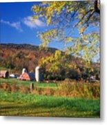 Vermont Farm In Autumn Metal Print
