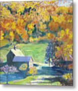 Vermont Farm Metal Print by Lyn Vic