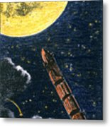 Verne: From Earth To Moon Metal Print