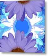 Vertical Daisy Collage Metal Print
