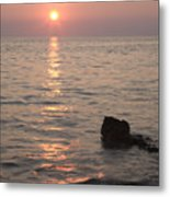 Verudela Beach At Sundown Metal Print