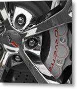 Vette Wheel Metal Print