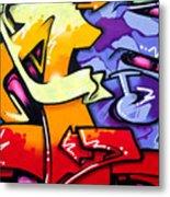 Vibrant Graffiti Metal Print by Richard Thomas