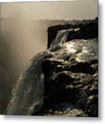 Victoria Falls And Zambezi River Shot Metal Print by Jason Edwards