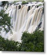 Victoria Falls Waterfall Framed Metal Print