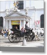 Vienna Horse And Carriage Metal Print