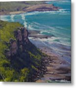 View Across Frazer Beach  Nsw Australia Metal Print