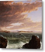 View Across Frenchman's Bay From Mt. Desert Island After A Squall Metal Print