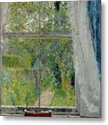 View From A Window Metal Print by Spencer Frederick Gore