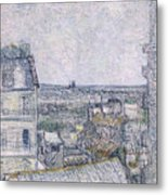View From Vincent's Room In The Rue Lepic Metal Print