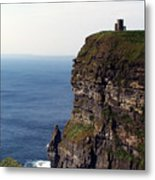 View Of Aran Islands And Cliffs Of Moher County Clare Ireland  Metal Print