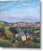 View Of Bude In Cornwall Metal Print
