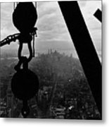 View Of Lower Manhattan From The Empire State Building Metal Print