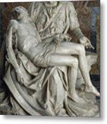View Of Michelangelos Famous Sculpture Metal Print by James L. Stanfield