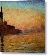 View Of San Giorgio Maggiore Venice By Twilight Metal Print by Claude Monet