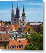 View Of Zagreb Metal Print