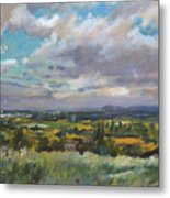 View Over Wrexham In North Wales Metal Print