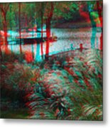View To The Cove - Use Red-cyan 3d Glasses Metal Print