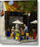 Village Brunch Metal Print