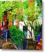 Village Life Sketch Metal Print