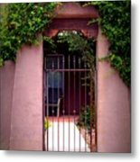 Vine Covered Entry Metal Print