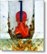 Vines And Violin Metal Print