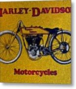 Vintage Harley Davidson Metal Print