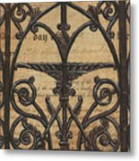 Vintage Iron Scroll Gate 1 Metal Print