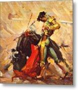 Vintage Mexico Bullfight Travel Poster Metal Print