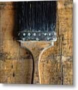 Vintage Paint Brush Metal Print