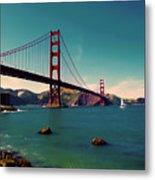 Vintage San Francisco Metal Print