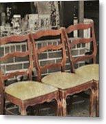Vintage Seating Metal Print