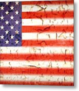 Vintage Stars And Stripes Metal Print