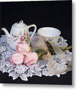 Vintage Tea Set Metal Print