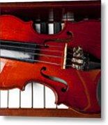 Viola On Piano Keys Metal Print by Garry Gay