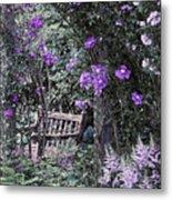 Violet Muted Garden Respite Metal Print