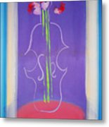 Violin Vase Metal Print