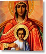 Virgin Mary Old Painting Metal Print